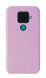 Eiroo Lansman Huawei Mate 30 Lite Pembe Silikon Kılıf