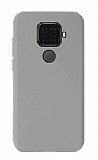 Eiroo Lansman Huawei Mate 30 Lite Gri Silikon Kılıf
