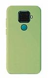Eiroo Lansman Huawei Mate 30 Lite Koyu Yeşil Silikon Kılıf