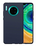 Eiroo Lansman Huawei Mate 30 Lacivert Silikon Kılıf