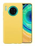 Eiroo Lansman Huawei Mate 30 Sarı Silikon Kılıf