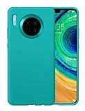 Eiroo Lansman Huawei Mate 30 Turkuaz Silikon Kılıf