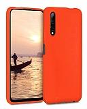 Eiroo Lansman Huawei P Smart Pro 2019 Turuncu Silikon Kılıf