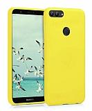Eiroo Lansman Huawei P Smart Sarı Silikon Kılıf