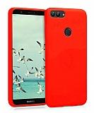Eiroo Lansman Huawei P Smart Kırmızı Silikon Kılıf