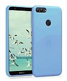 Eiroo Lansman Huawei P Smart Mavi Silikon Kılıf