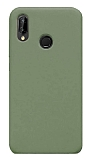 Eiroo Lansman Huawei P20 Lite Koyu Yeşil Silikon Kılıf