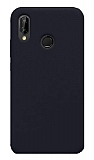 Eiroo Lansman Huawei P20 Lite Lacivert Silikon Kılıf