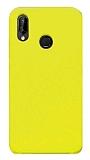 Eiroo Lansman Huawei P20 Lite Sarı Silikon Kılıf