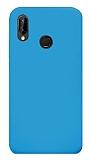 Eiroo Lansman Huawei P20 Lite Mavi Silikon Kılıf