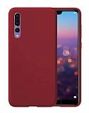 Eiroo Lansman Huawei P20 Pro Bordo Silikon Kılıf