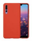 Eiroo Lansman Huawei P20 Pro Kırmızı Silikon Kılıf