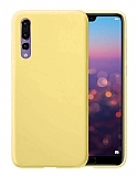Eiroo Lansman Huawei P20 Pro Sarı Silikon Kılıf