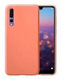 Eiroo Lansman Huawei P20 Pro Turuncu Silikon Kılıf