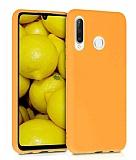 Eiroo Lansman Huawei P30 Lite Sarı Silikon Kılıf