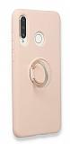 Eiroo Lansman Huawei P30 Lite Selfie Yüzüklü Pembe Silikon Kılıf