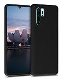 Eiroo Lansman Huawei P30 Pro Siyah Silikon Kılıf