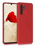 Eiroo Lansman Huawei P30 Pro Kırmızı Silikon Kılıf