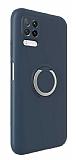 Eiroo Lansman Huawei P40 Lite Selfie Yüzüklü Lacivert Silikon Kılıf