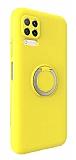 Eiroo Lansman Huawei P40 Lite Selfie Yüzüklü Sarı Silikon Kılıf