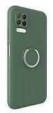 Eiroo Lansman Huawei P40 Lite Selfie Yüzüklü Yeşil Silikon Kılıf