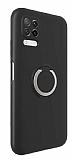 Eiroo Lansman Huawei P40 Lite Selfie Yüzüklü Siyah Silikon Kılıf