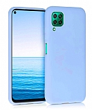 Eiroo Lansman Huawei P40 Lite Mavi Silikon Kılıf