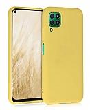 Eiroo Lansman Huawei P40 Lite Sarı Silikon Kılıf