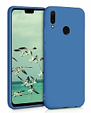 Eiroo Lansman Huawei Y6 2019 Lacivert Silikon Kılıf