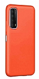 Eiroo Lansman Huawei P smart 2021 Turuncu Silikon Kılıf