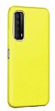 Eiroo Lansman Huawei P smart 2021 Sarı Silikon Kılıf