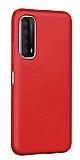 Eiroo Lansman Huawei P smart 2021 Kırmızı Silikon Kılıf