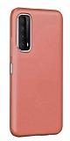 Eiroo Lansman Huawei P smart 2021 Pembe Silikon Kılıf