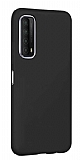Eiroo Lansman Huawei P smart 2021 Siyah Silikon Kılıf