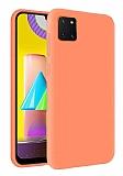 Eiroo Lansman Samsung Galaxy Note 10 Lite Açık Turuncu Silikon Kılıf