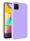 Eiroo Lansman Samsung Galaxy Note 10 Lite Lila Silikon Kılıf