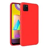 Eiroo Lansman Samsung Galaxy Note 10 Lite Kırmızı Silikon Kılıf