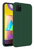 Eiroo Lansman Samsung Galaxy Note 10 Lite Koyu Yeşil Silikon Kılıf