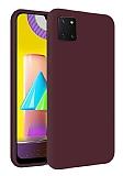 Eiroo Lansman Samsung Galaxy Note 10 Lite Bordo Silikon Kılıf