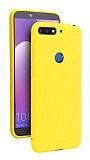 Eiroo Lansman Huawei Y7 2018 Sarı Silikon Kılıf