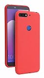 Eiroo Lansman Huawei Y7 2018 Kırmızı Silikon Kılıf