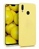 Eiroo Lansman Huawei Y7 2019 Sarı Silikon Kılıf