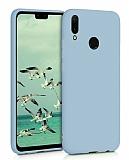Eiroo Lansman Huawei Y7 2019 Mavi Silikon Kılıf