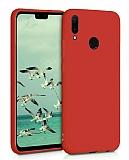 Eiroo Lansman Huawei Y7 2019 Kırmızı Silikon Kılıf