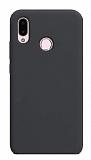 Eiroo Lansman Huawei Y7 Prime 2019 Siyah Silikon Kılıf