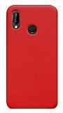 Eiroo Lansman Huawei Y7 Prime 2019 Kırmızı Silikon Kılıf