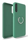 Eiroo Lansman Huawei Y8P Selfie Yüzüklü Yeşil Silikon Kılıf