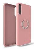 Eiroo Lansman Huawei Y8P Selfie Yüzüklü Pembe Silikon Kılıf