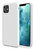 Eiroo Lansman iPhone 11 Beyaz Silikon Kılıf