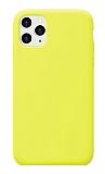 Eiroo Lansman iPhone 11 Pro Max Sarı Silikon Kılıf